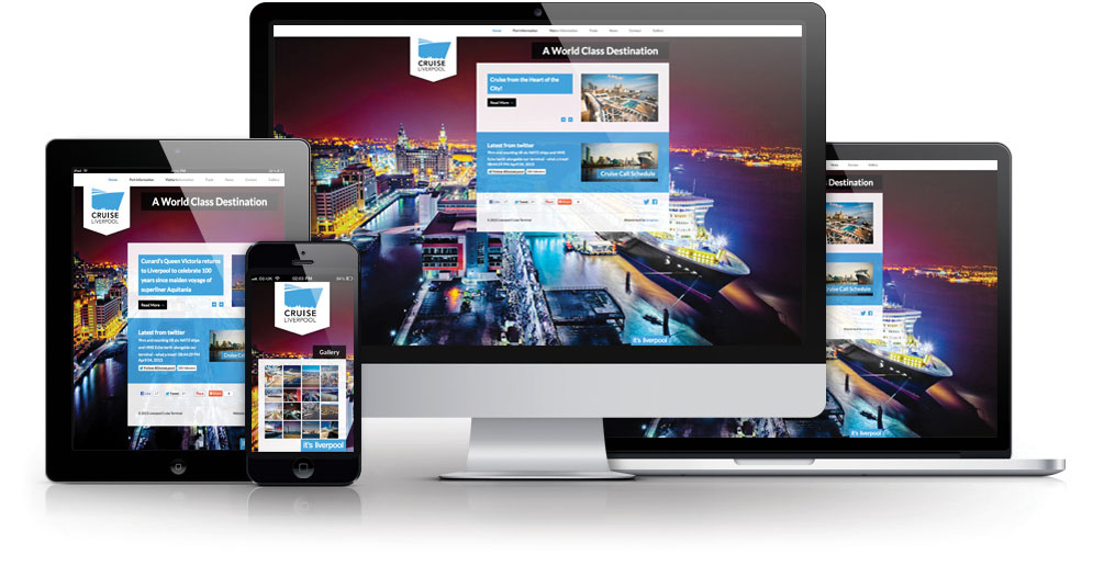 cruise liverpool responsive website