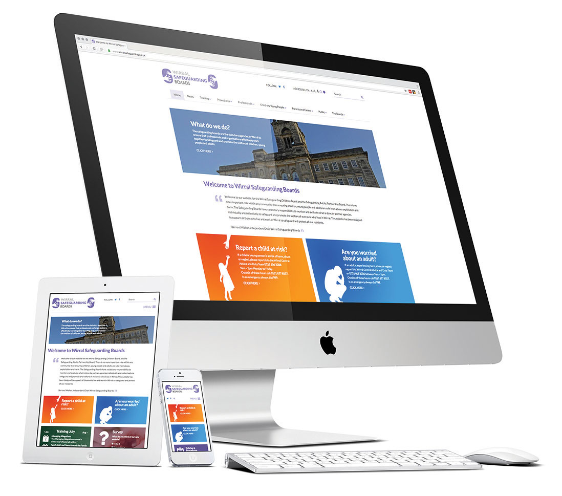 Wirral Safeguarding Boards responsive website design
