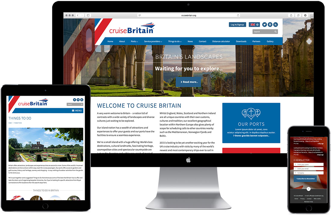 Cruise Britain website by iprogress