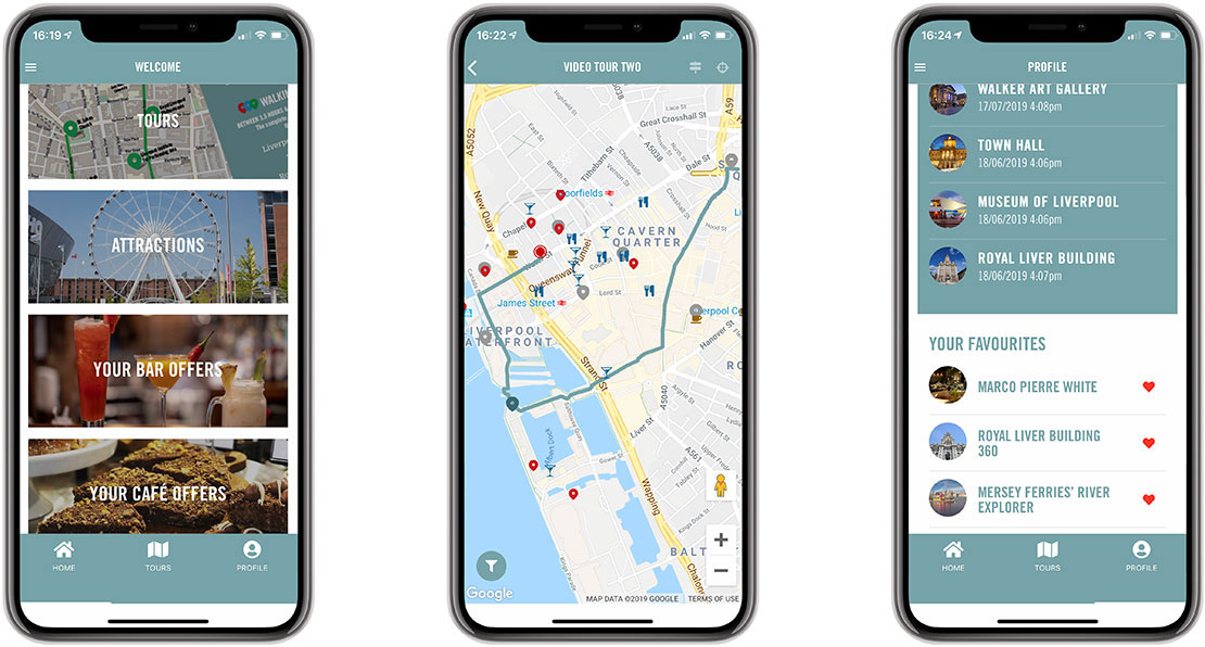 mobile video tours app